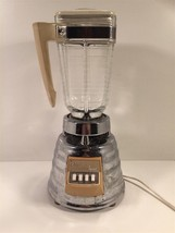 Vintage Osterizer Imperial Beehive Chrome Blender With Glass Jar 3 Speed - $24.99