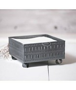 Primitive Square Punched Metal Tin Cheese Mold Napkin Holder In Antique ... - $31.14
