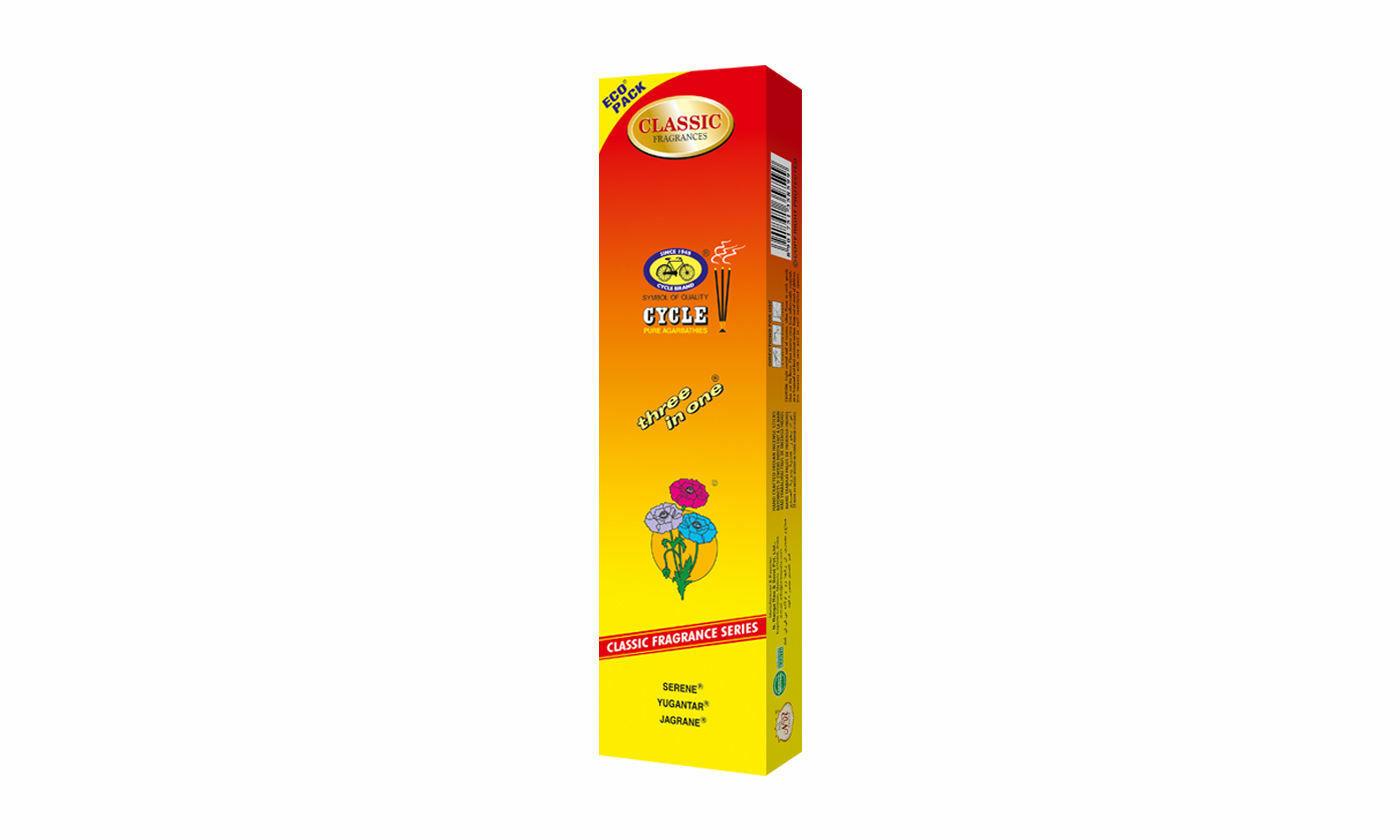 Incense Sticks 3 in 1 Three in One Cycle Agarbatti Eco Pack 100 - 1200 Sticks
