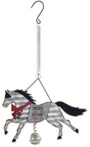 """""""Christmas Time to Get Your Jingle On"""" Holiday Horse Bouncy Garden Hangi... - $10.39"""