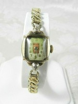Vintage Women's Seeland Watch Gold Tone Case Art Deco Manual Wind Expansion Band - $38.60