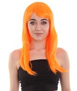 Adult Women Mid Length Wig Cosplay Pumpkin Orange HW-563 - $31.85