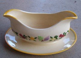 Vintage 1949 Franciscan Small Fruit-Pattern Gravy Boat EXC - $34.99
