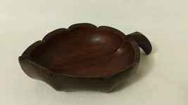 WOOD leaf serving platter bowl dish - $21.04