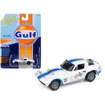 1963 Chevrolet Corvette Grand Sport Gulf #7 White with Blue Stripes Limi... - $15.51