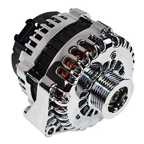A-Team Performance GM Alternator AD244 Style High Output 220 Amps 12V Chrome Com