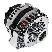 A-Team Performance GM Alternator AD244 Style High Output 220 Amps 12V Chrome Com