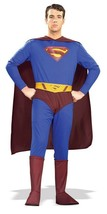 THE SUPERMAN HALLOWEEN COSTUME ADULT SIZE  LARGE - $44.42