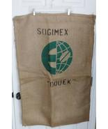 "SOGIMEX ""DOUEK"" Bean Graphic Burlap Food Grade Jute SHG-EP Green Bean Co... - $23.75"