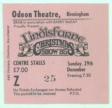 RARE Lindisfarne 12/29/85 Christmas Show Birmingham England Concert Tick... - $6.92