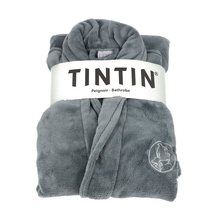 Tintin bathrobe grey steel One Size: Large-X-Large Official Tintin product image 1