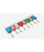 Hillman KEY HOLDER Assorted Colors Plastic/Metal Labeling ID Organize 71... - $9.29
