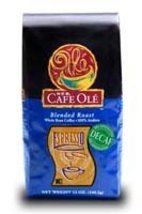 HEB Cafe Ole Whole Bean Coffee 12oz Bag (Pack of 3) (Decaf Espresso Roast) - $47.49