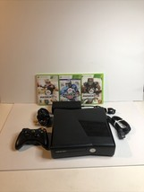 Microsoft Xbox 360 SlimBlack Game Console Model 1439 Bundle Games Cables Nice - $74.79