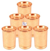 Set of 6 Pure Copper Glass Goblet - Home Hotel Restaurant with lid glaas... - $67.11