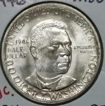 1946 Booker T Washington Commemorative Silver Half Dollar Coin Lot # E 65