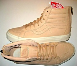 Vans Sk8-Hi Reissue Zipper Mens Veggie Tan Leather Skate shoes Size 11 NWT - £47.65 GBP