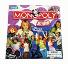 Monopoly Junior Disney Channel Edition Board Game Hannah Montana Parker ... - $16.95