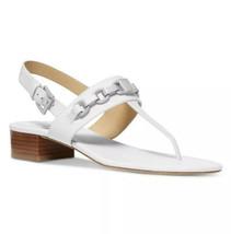Nib Michael Kors Charlton Sandals - Optic WHITE/SILVER - $74.99