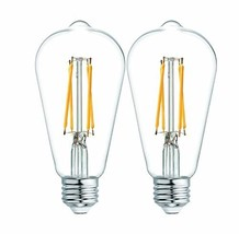 GE Lighting 36566 Clear Finish Light Bulb Dimmable (2 Pack|Clear Glass|60-Watt) - $29.87