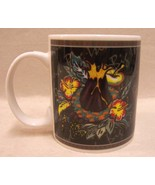 HILO HATTIE COFFEE MUG HAWAII BIG ISLAND VOLCANO & TROPICAL FLOWER DESIGN - $9.89
