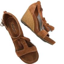 Skechers Leather wedge tassel sandals Size 6 - $26.74