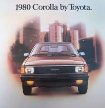 1980 Toyota Corolla Brochure, SR5, Accessories, MINT! - $14.43