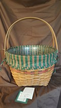Longaberger 1994 Holiday Hostess Red Sleigh Bell Basket 14427 LG Liner P... - $49.95
