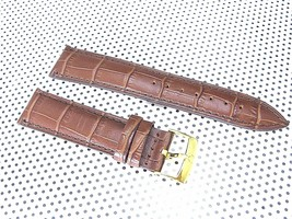 OMEGA GENUINE LEATHER WATCH BAND CROCODILE GRAINED 19MM - $84.32