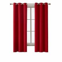 Deconovo Room Darkening Grommet Blackout Curtain Thermal (42x72 inch|Red) - $44.84