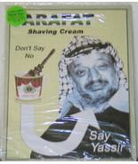 ARAFAT Shaving Cream, Say Yassir Spoof Ad Tin Sign, NEW - $5.94