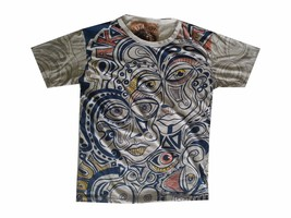 Men T Shirt Picasso Dada Art Rock Hippie faces new cotton graphic tee L MIRROR - $12.86