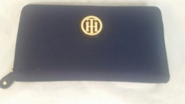 Tommy Hilfiger NEW Blue Nylon Gold Zip Around L... - $32.69