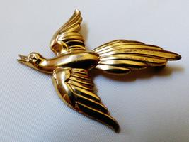 Forstner Gold plate on Sterling Silver 925 Bird Pin Brooch - $57.02