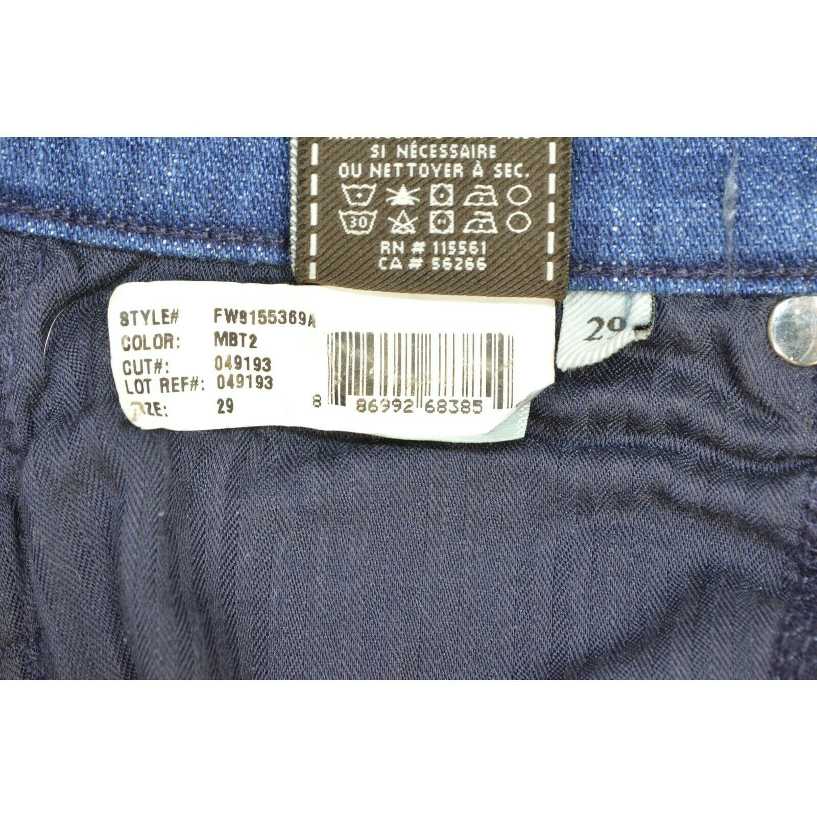 7 For All Mankind jeans cropped 29 x 24 NWT raw hem USA image 12