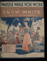 Disney Snow White Whistle While You Work Sheet Music 1937 Irving Berlin ... - $19.99