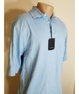 DUNBROOKE MENS POLO SHIRT GOLF SHIRT LIGHT BLUE 100% COTTON SIZE LARGE S... - $12.73