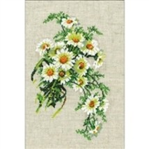 RIOLIS Counted Cross Stitch Kit, Bouquet Of Camomiles, Kit #R582 - $14.33