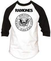 Ramones-Seal Logo-Medium Raglan Baseball Jersey T-shirt - $17.41