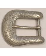 Silver Colored Metal Buckle Western Style Made in Taiwan - $15.00