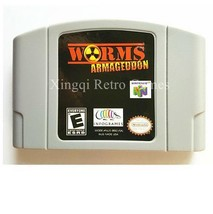 Nintendo N64 Worms Armageddon Video Game Cartridge Console Card - $32.67