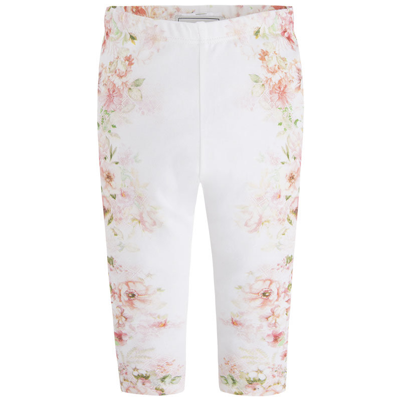 Mayoral Baby Girls Nude/Pink Floral Printed Leggings