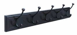 Amerock H55662-MORB 27-Inch Beveled Hook Rack, Mahogany with Oil-Rubbed Bronze H - $44.69