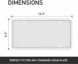 Flawless Silicone License Plate Frame, Rust-Proof, Rattle-Proof, Weather-Proof