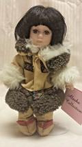 "Vintage Auth. ALASKAN COLLECTION Eskimo Doll Genuine Bisque Porcelain 9""... - $22.76"