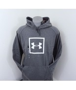 New Under Armour Men's Logo Hoodie Pullover Sweatshirt Gray 4XL ColdGear - $35.24