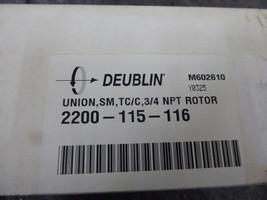 Deublin 2200-115-116 SM,TC/C, 3/4 NPT Rotor New image 2