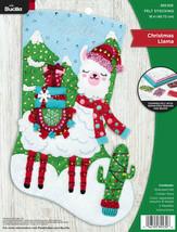 Bucilla Christmas Llama Cactus Animal Christmas Holiday Felt Stocking Ki... - $37.95