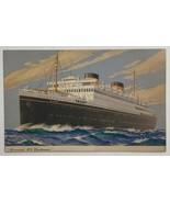 Old Postcard Advertisement Cunard Line M.V. Britannic Cruise Ship - $9.79