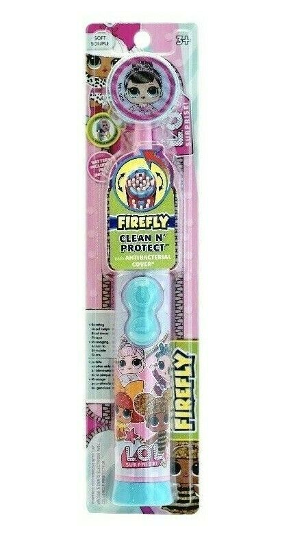FIrefly LOL Surprise Electric Battery Spinbrush Toothbrush w Antibacterial Cover